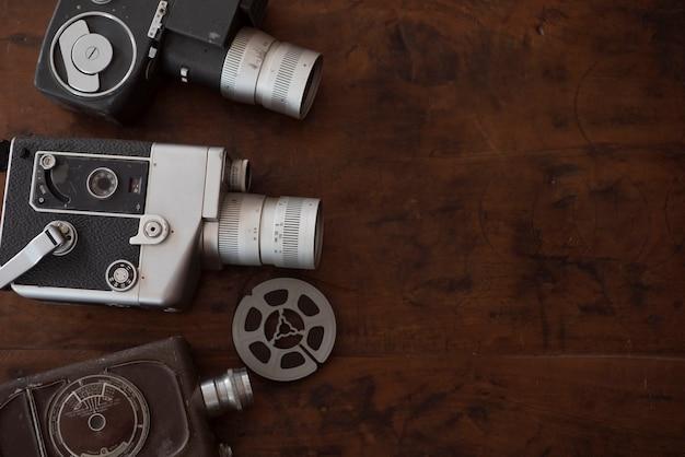 Fundo vintage de cinematografia