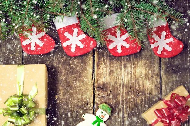 Fundo vintage de natal