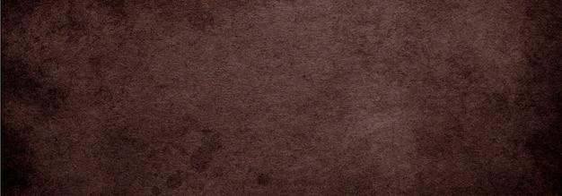 Fundo vintage de papel pardo antigo com textura de cor café escuro, fundo abstrato marrom antigo para banner de site