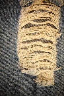 Fundo vintage jeans rasgado