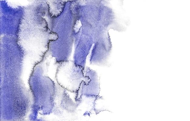 Fundos azuis abstratos da aguarela, pintura da mão no papel.