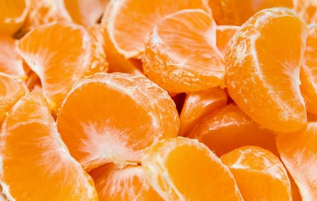 Fundos de frutas - fatias de mandarim.