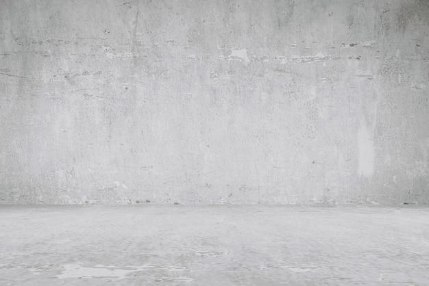 Fundos do assoalho e da parede do cimento, quarto, interior, produtos da exposição.