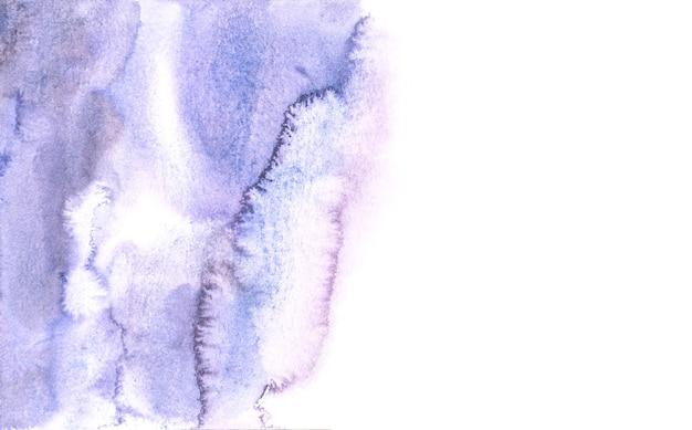 Fundos roxos abstratos da aguarela, pintura da mão no papel.