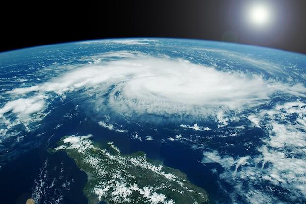 Furacão do espaço os elementos desta imagem foram fornecidos pela nasa. foto de alta qualidade