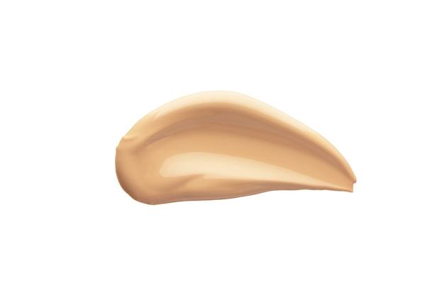 Furto de creme de tom líquido. base para correção de pele facial. mancha de maquiagem nua.