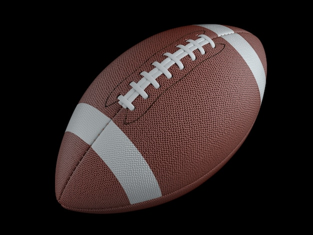 Futebol americano em superfície escura