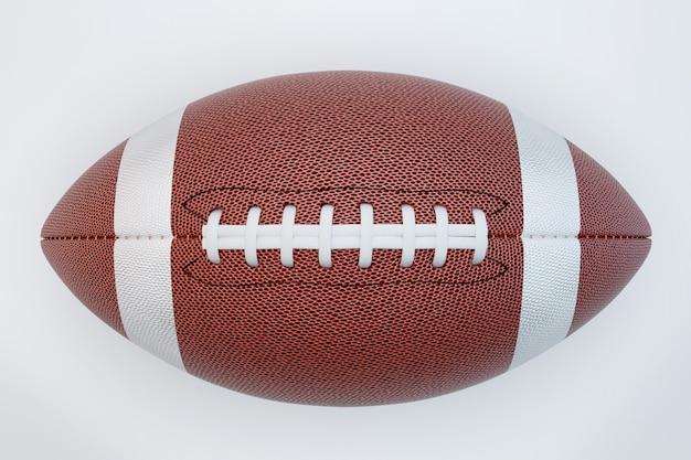 Futebol americano isolado em superfície branca