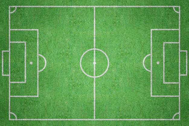 Futebol bola grama verde campo vista superior
