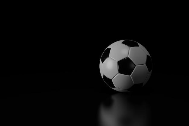 Futebol isolado em fundo preto