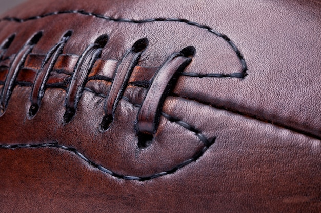 Futebol vintage de couro