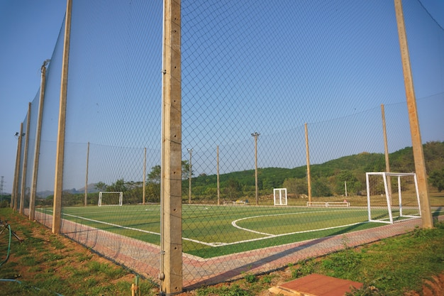 Futsal ou pequeno futebol, quadra de futebol