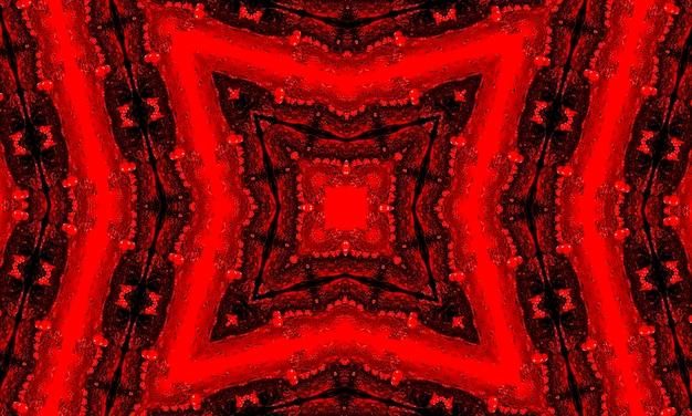Futurista sci fi moderno néon vermelho brilhante forma moldura para banner em fundo de tijolo de concreto escuro vazio de grunge. lâmpada de círculo colorido vermelho vintage. sinal de néon retrô.