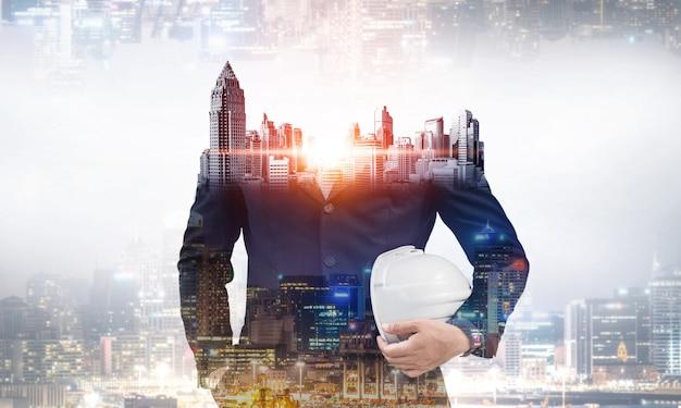 Futuro projeto de engenharia de construção de edifícios