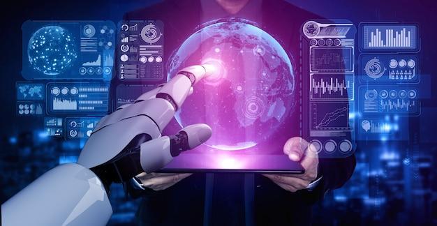 Futuro robô de inteligência artificial