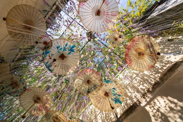 Fuzhou velho beco e guarda-chuva de papel de óleo