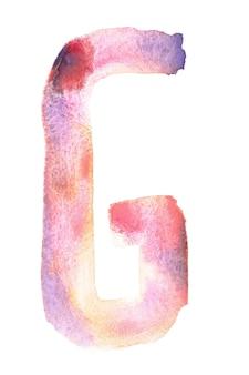 G - alfabeto aquarela feito à mão