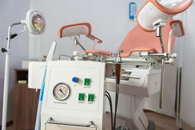 Gabinete ginecológico na clínica moderna