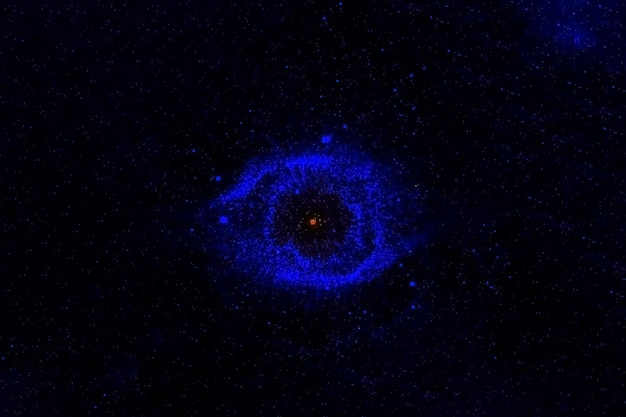 Galáxia de formato incomum. os elementos desta imagem foram fornecidos pela nasa. foto de alta qualidade