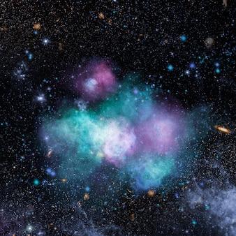 Galáxia estética em fundo preto