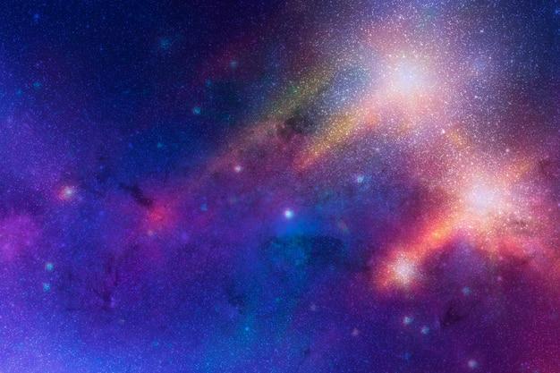 Galáxia no fundo texturizado do espaço