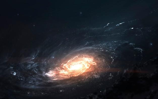 Galaxy, papel de parede incrível de ficção científica. elementos desta imagem fornecidos pela nasa