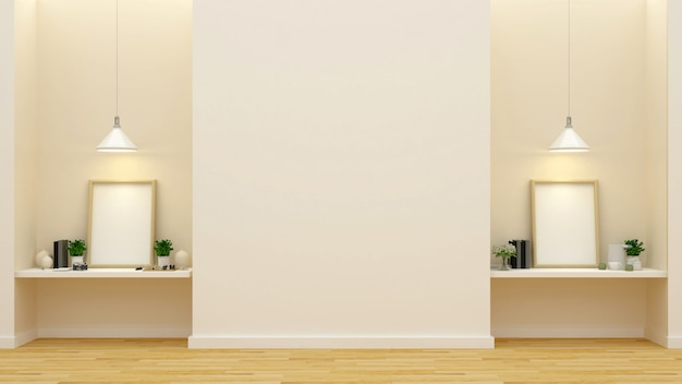 Galeria ou estúdio de arte - renderização em 3d