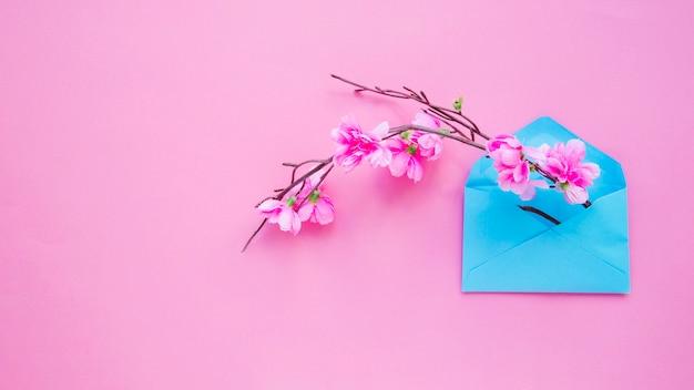 Galho de florescência no pacote