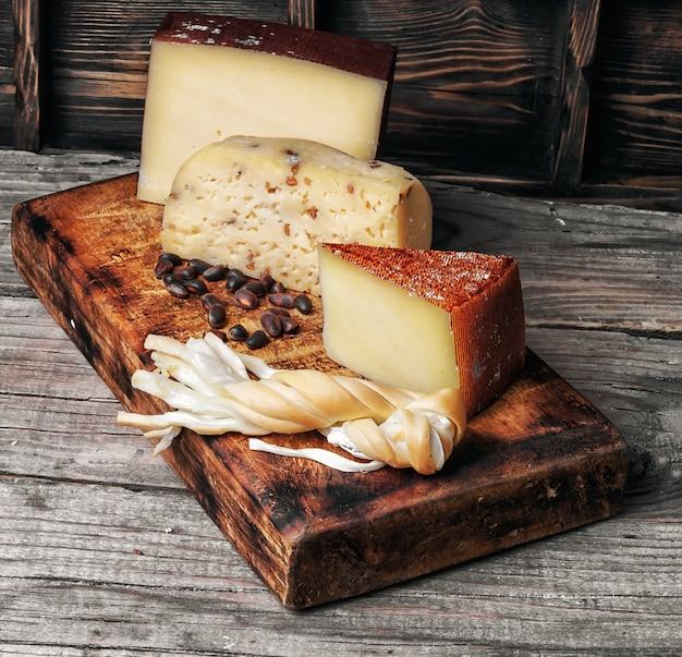 Gama de queijos suíços