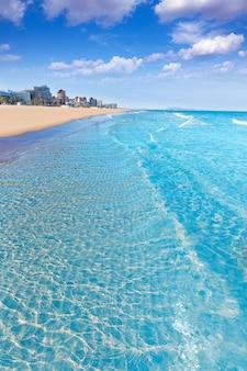 Gandia praia em valência mediterrâneo espanha