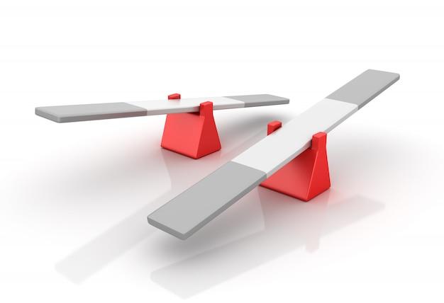 Gangorra vazia - conceito de equilíbrio