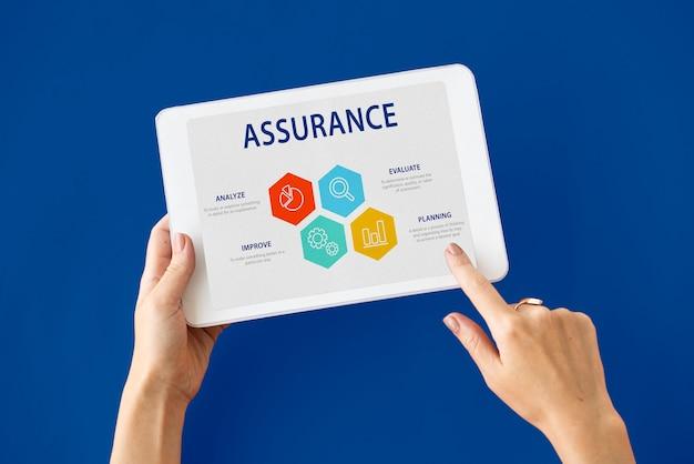 Garantia de qualidade garantia de garantia conceito confiável