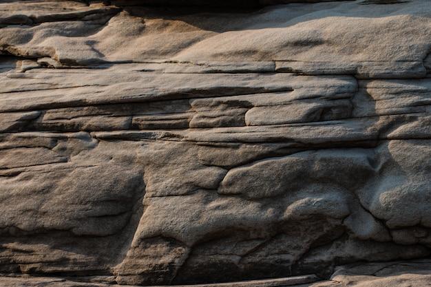 Garganta da rocha do fundo bonito ao lado do rio do maekhong