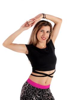 Garota de exercício fitness