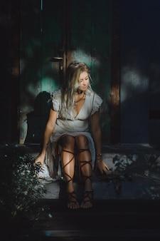 Garota e apanhador de sonhos