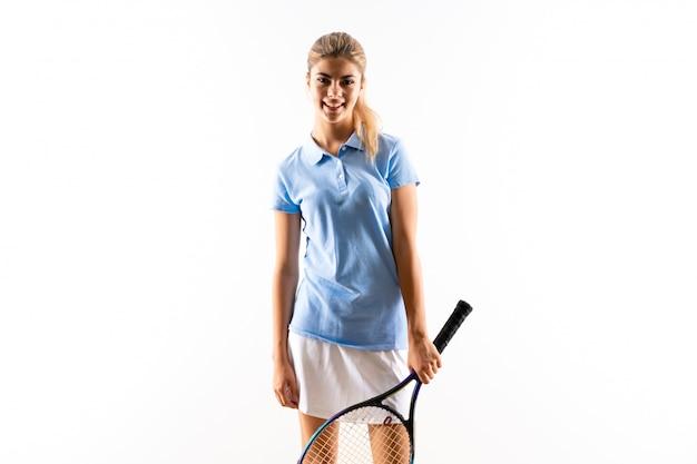 Garota jogador de tênis