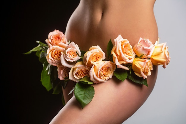 Garota sensual ginecologia e cueca saúde feminina