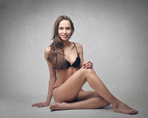 Garota sexy em lingerie