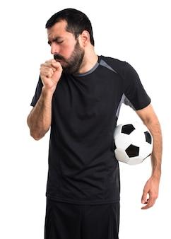 Garoto da garganta asma dor atlética