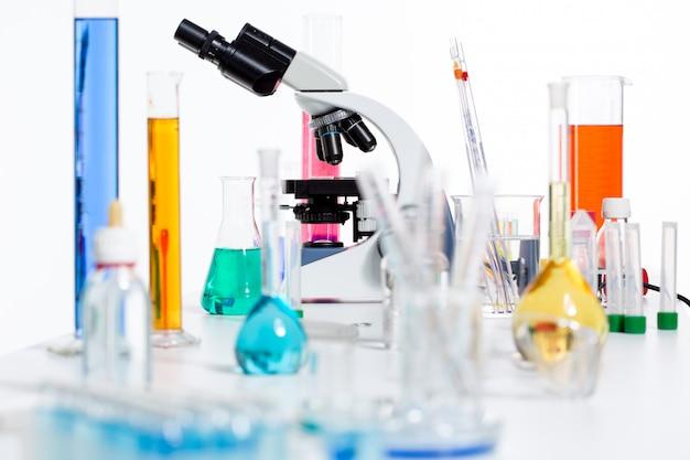 Garrafa científica do tubo de ensaio do material do laboratório científico