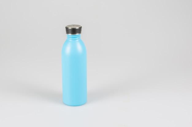 Garrafa de água térmica azul inoxidável
