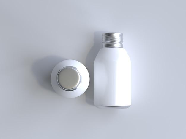 Garrafa de alumínio renderizada 3d sem etiqueta