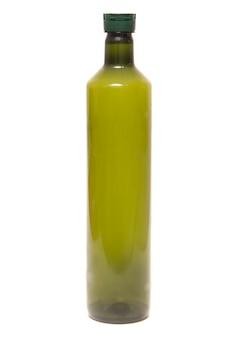 Garrafa de azeite verde vazia de plástico