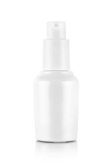 Garrafa de cerâmica branca para embalagem de produtos cosméticos