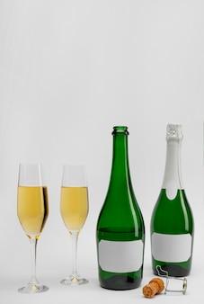 Garrafa de champanhe para o ano novo
