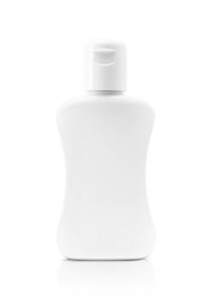 Garrafa de produto cosmético em branco isolada