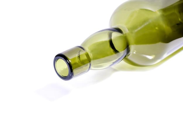 Garrafa de vinho de vidro verde