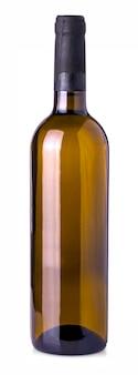 Garrafa de vinho isolado em um fundo branco