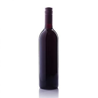 Garrafa de vinho tinto.