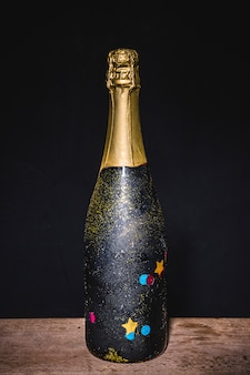 Garrafa festiva de champanhe